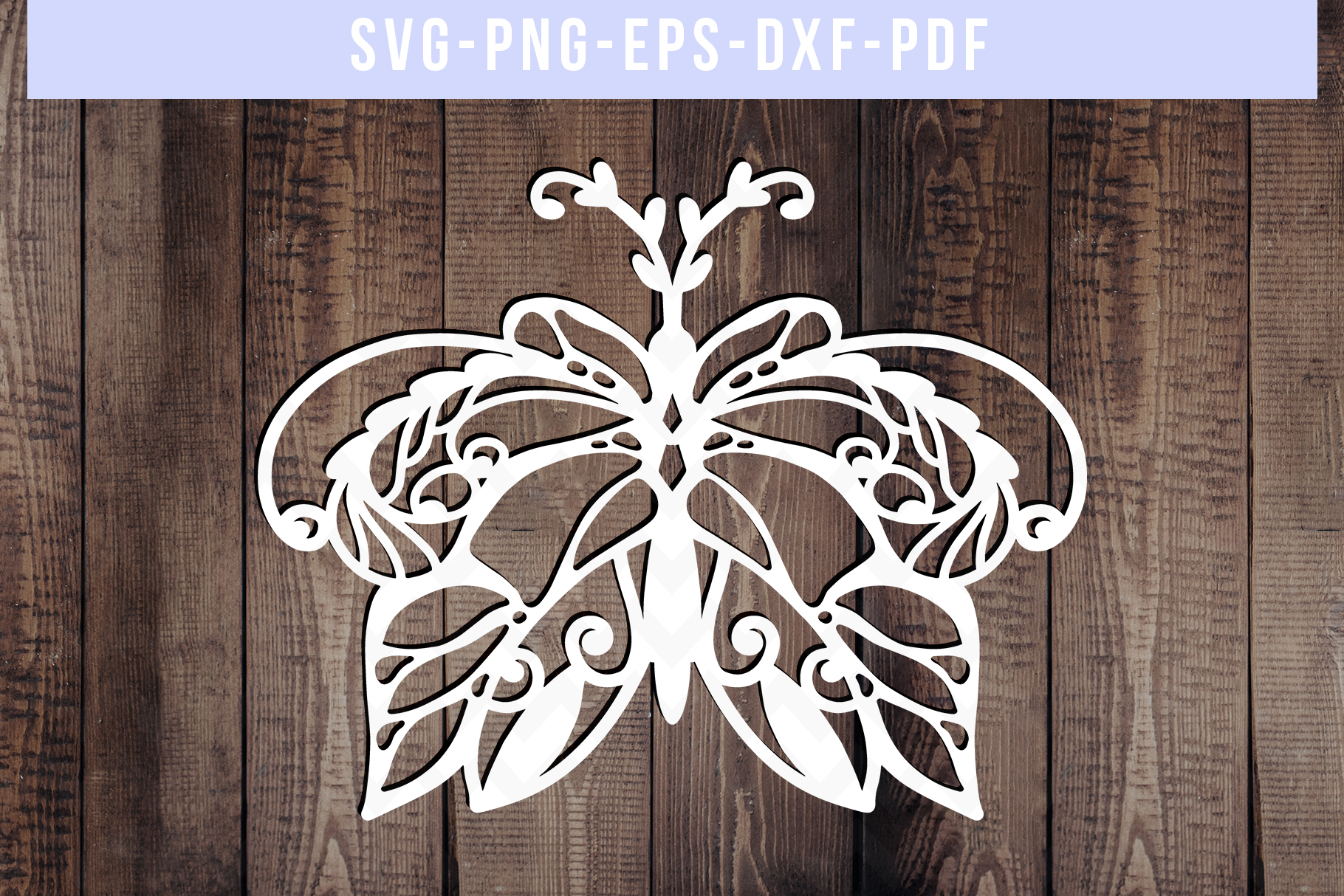 Bundle Of 9 Butterfly Papercut Templates, Paper Art DXF PDF example image 8