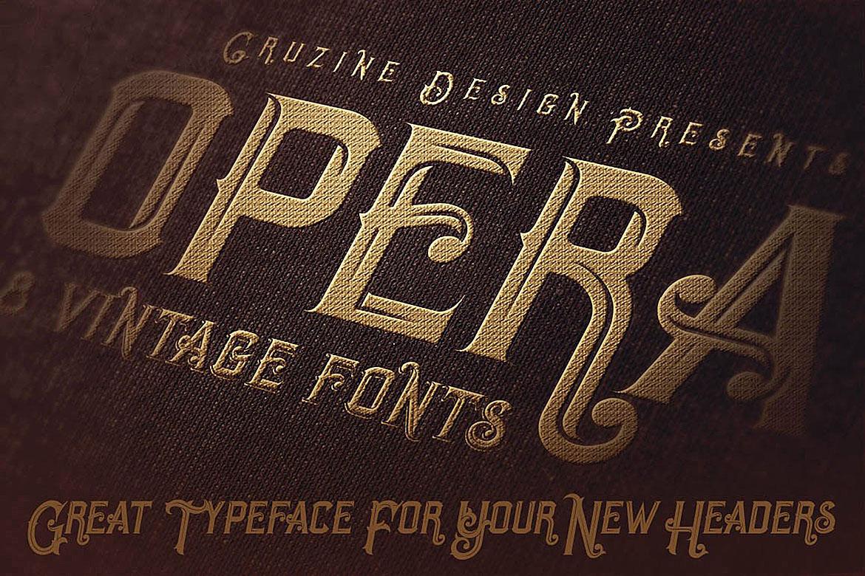 Opera Vintage Typeface example image 4