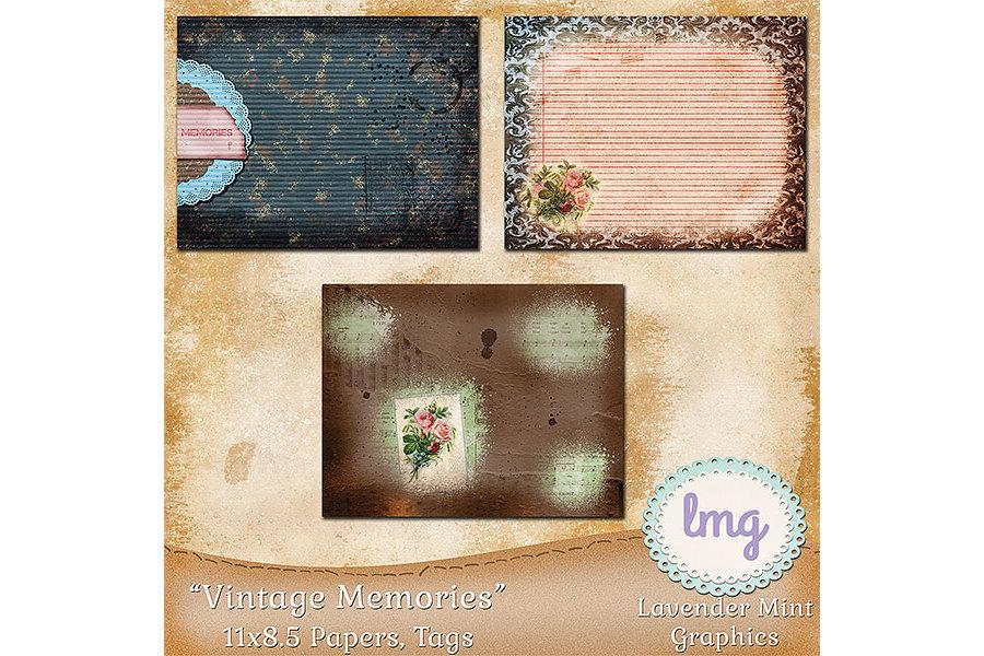 Vintage Memories Journal Papers 11x8.5 example image 3