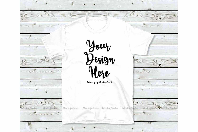 White T Shirt Mock Up Unisex Women Youth Gildan Shirt