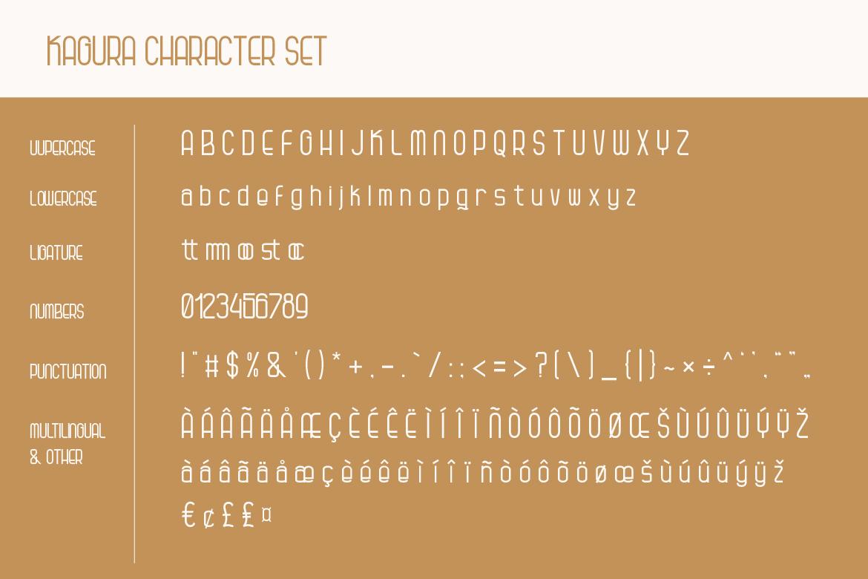 Kagura | Uniqe Sans Serif Fonts example image 6