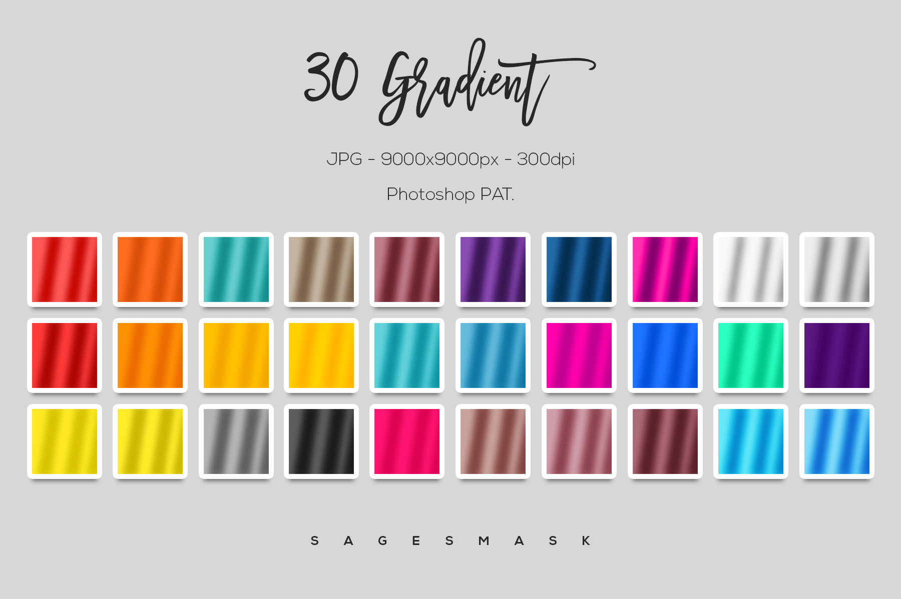Gradient Pattern Pack example image 5
