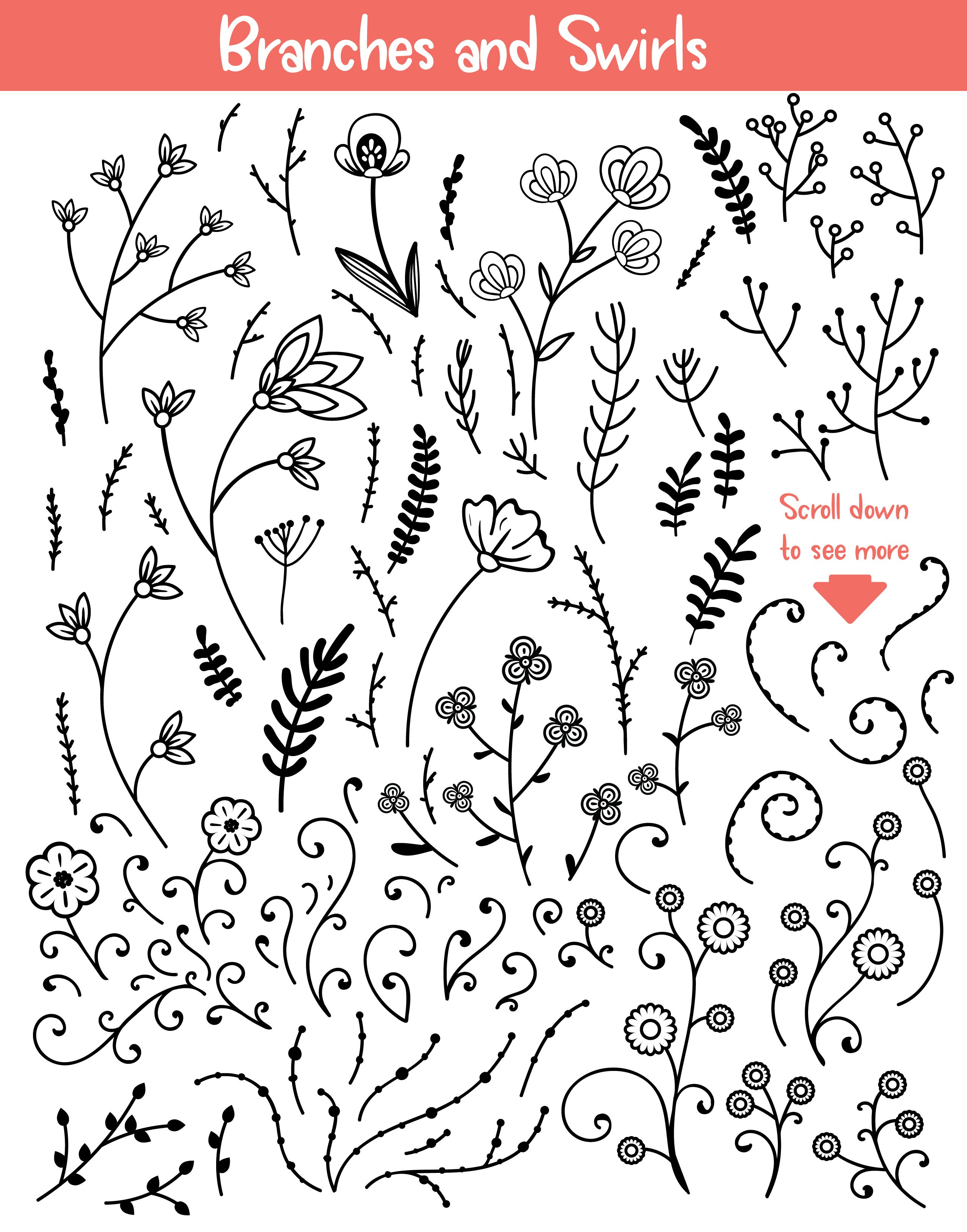 Floral Doodles Collection example image 5
