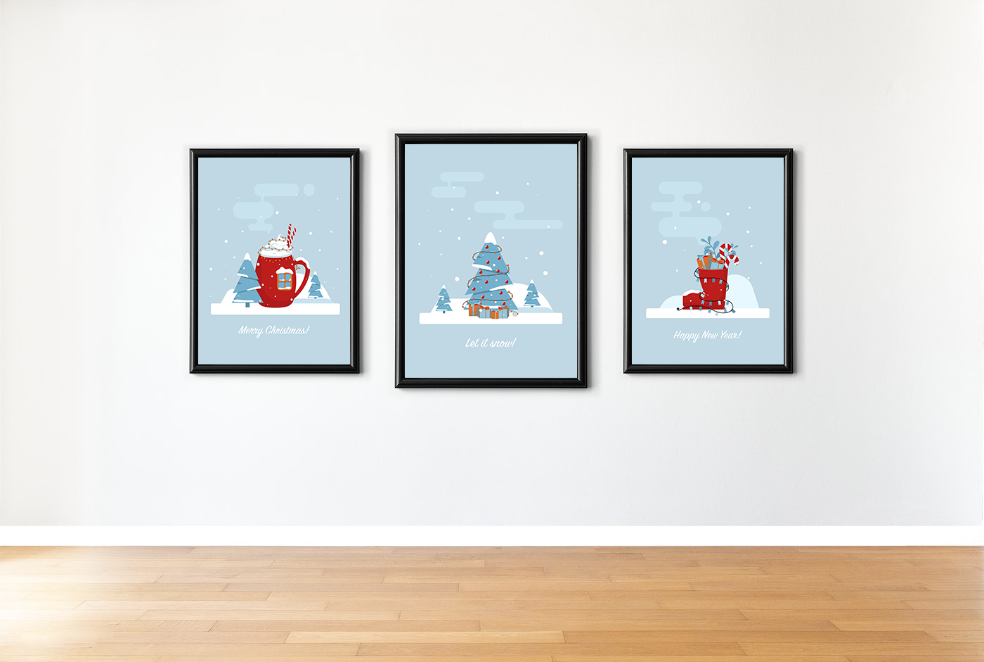 Christmas greetings cards example image 2