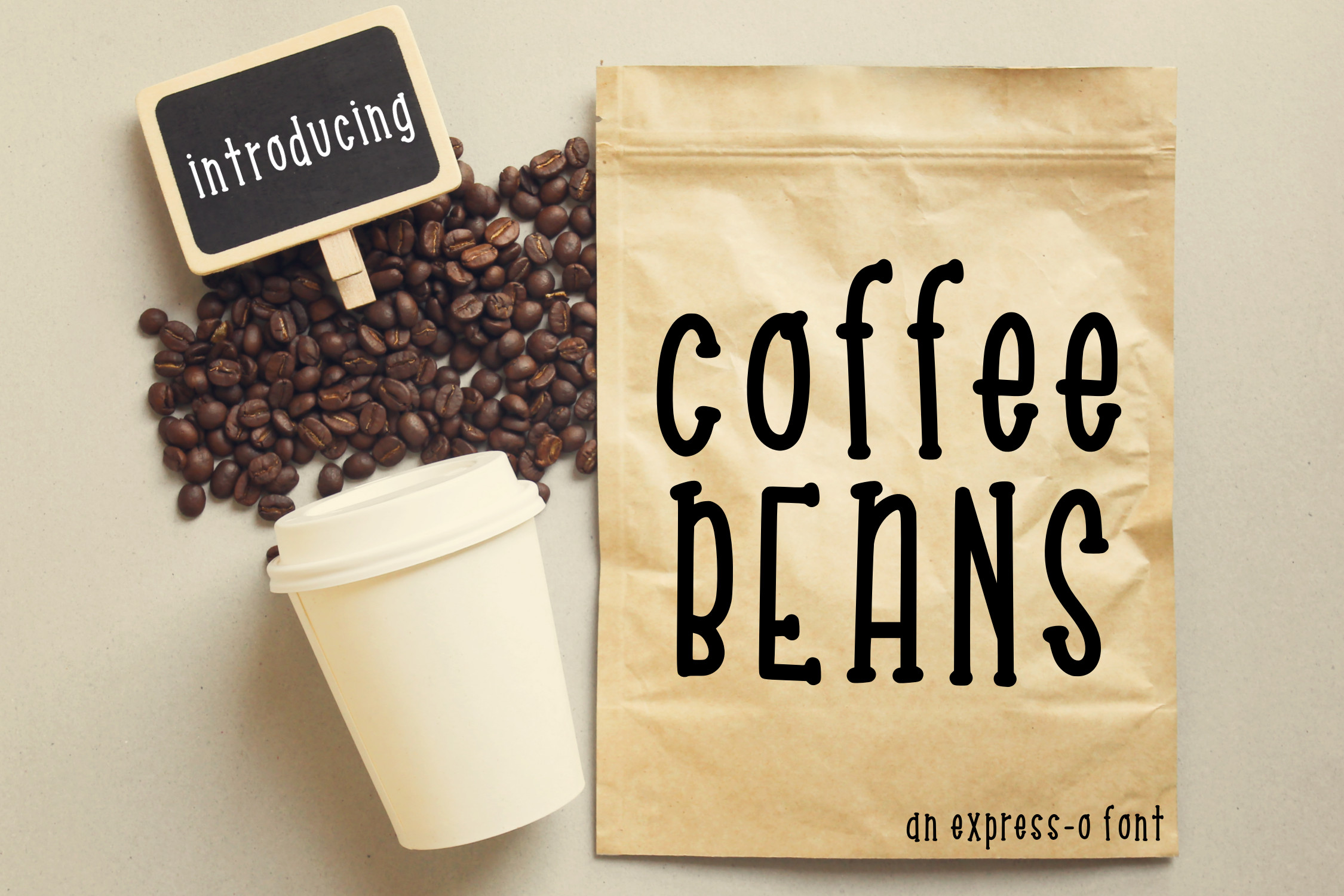 Coffee Beans an Express-o Font example image 1