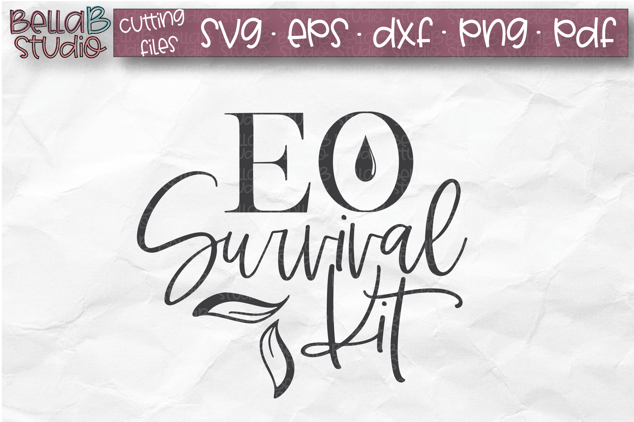 Essential Oils SVG, EO Survival Kit, EO Bag SVG example image 1
