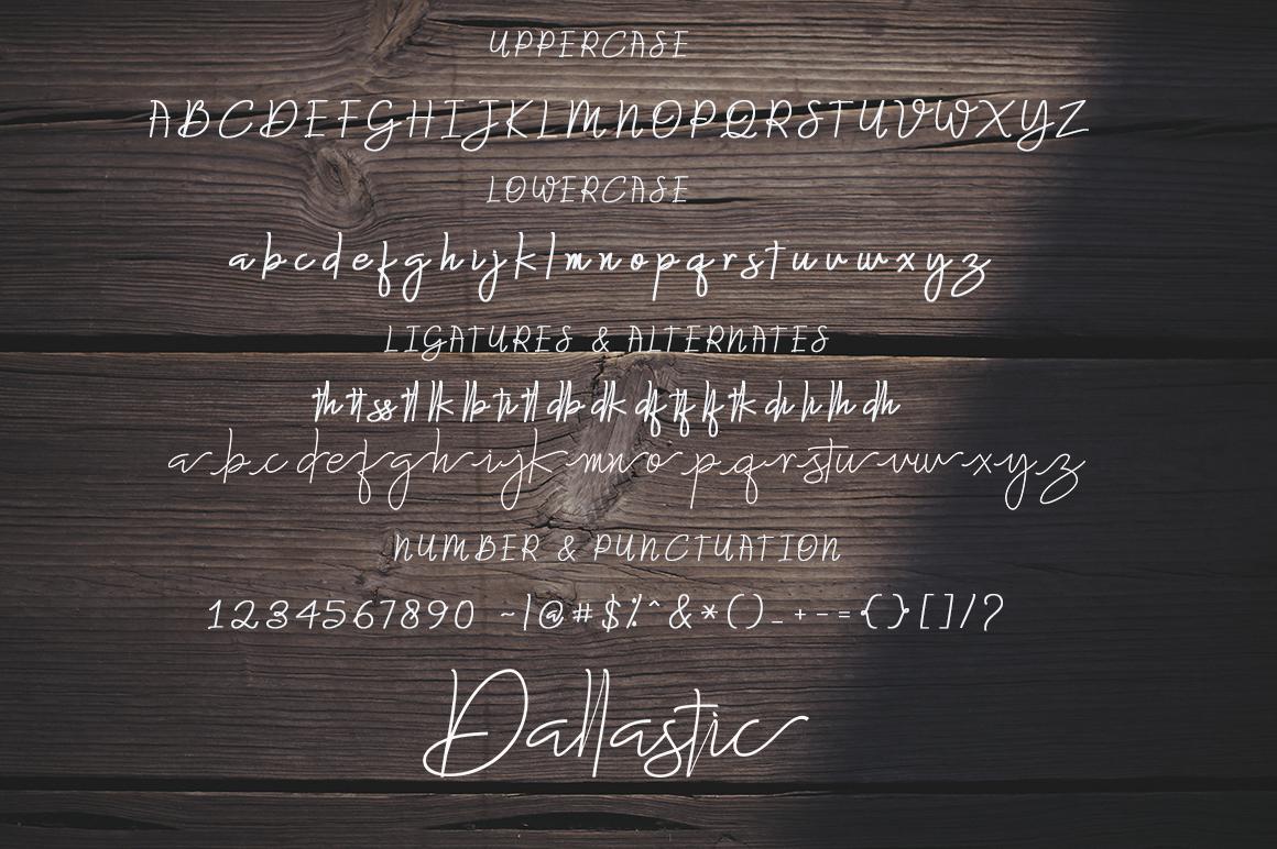 Dallastic Script example image 5