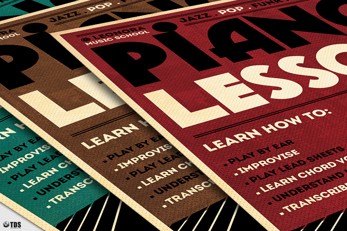 Piano Lessons Flyer Template example image 9
