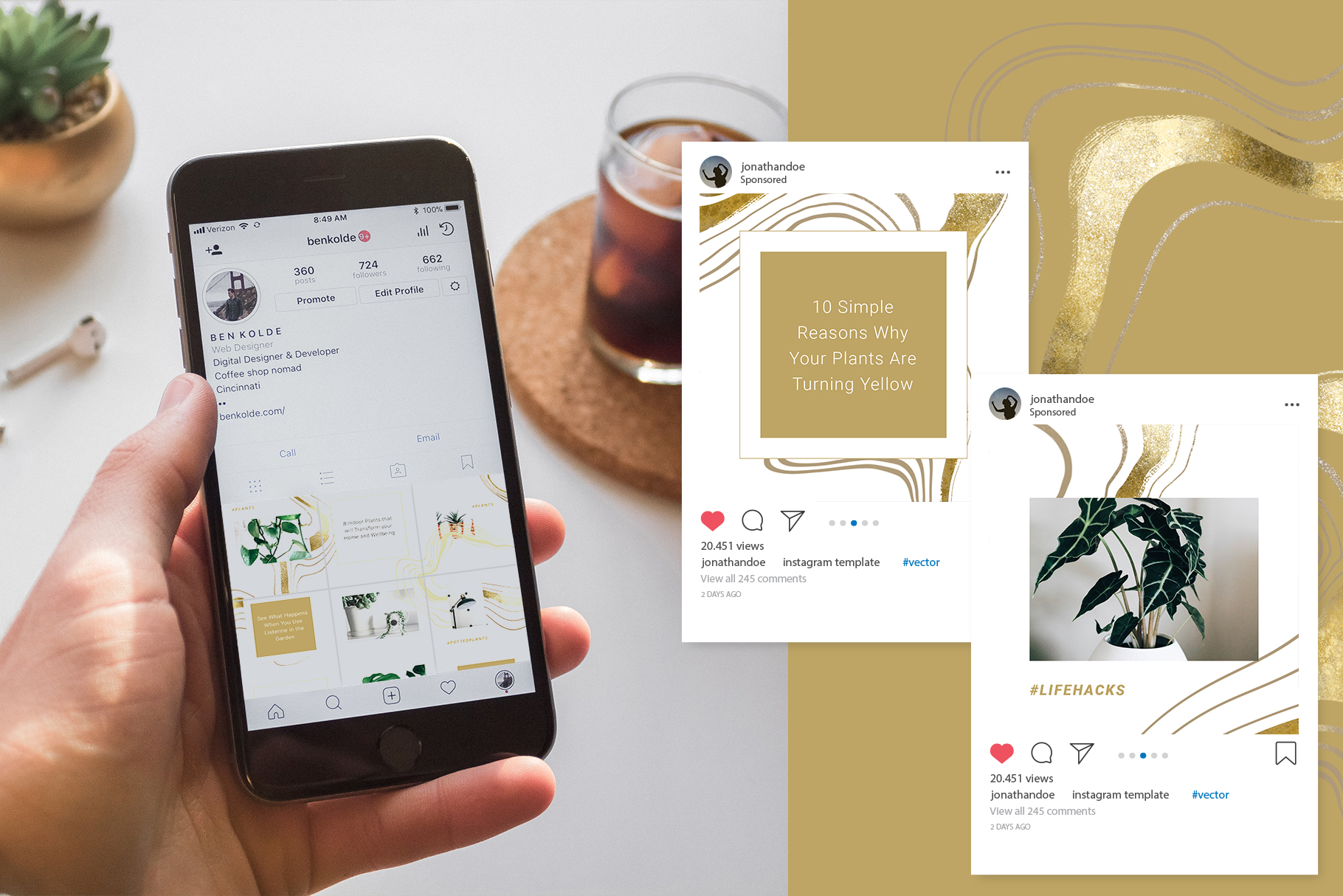 Female Business Instagram Templates example image 7