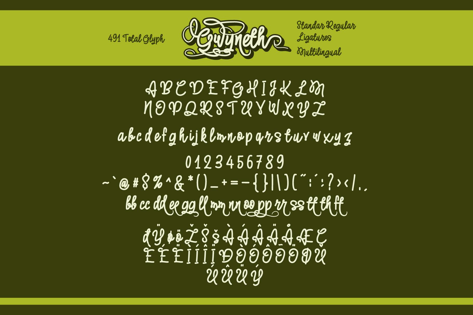 Gwyneth | modern script layered example image 2