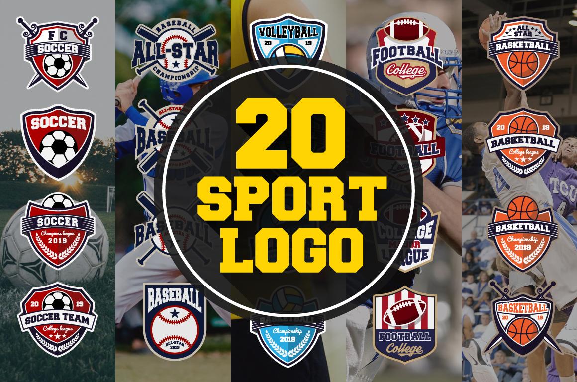 20 Sport Team Logos Template example image 1