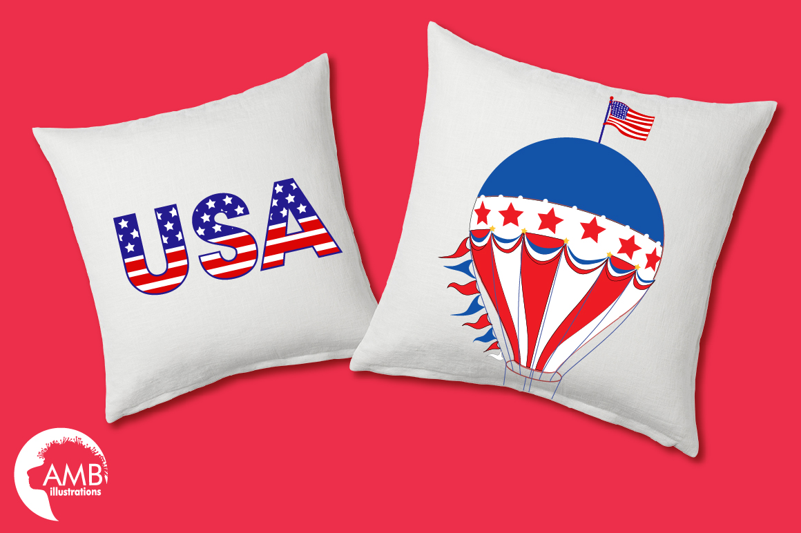 Fourth of July Cliparts, graphics, illustrations AMB-1367 example image 3