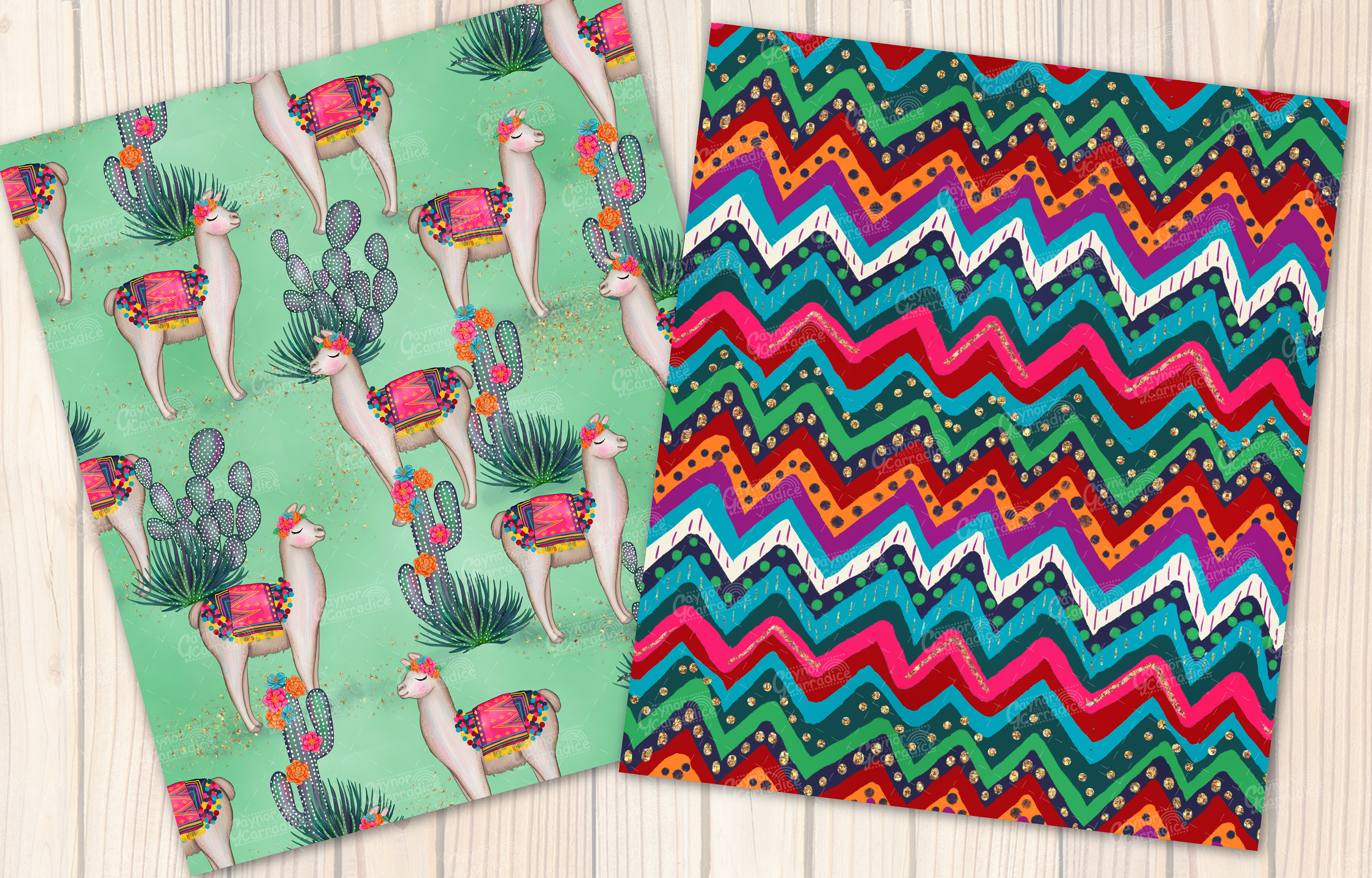 Lola - Mecian cinco de mayo Seamless Pattern collection example image 3