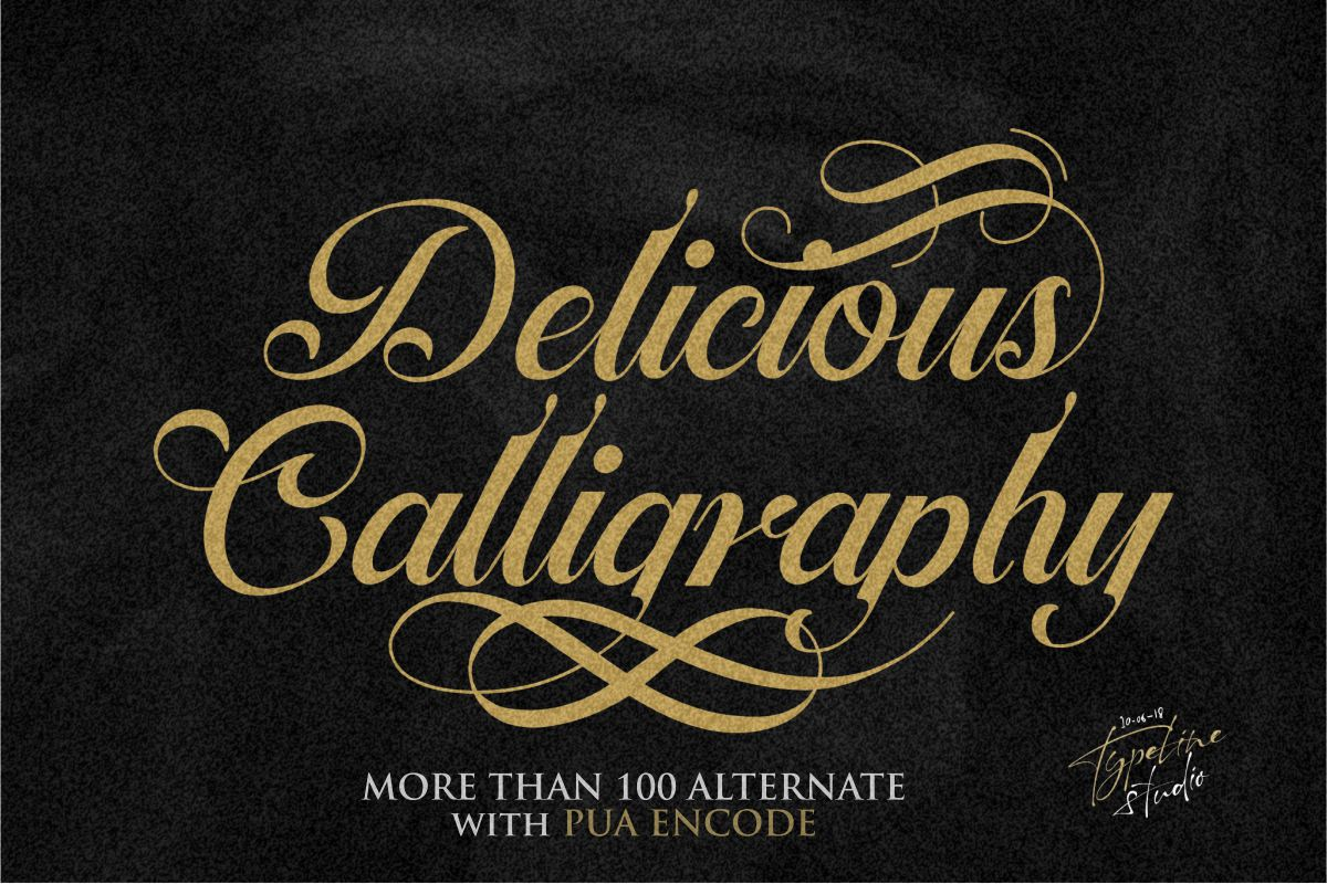 Ballegra Solid & Outline Script example image 2