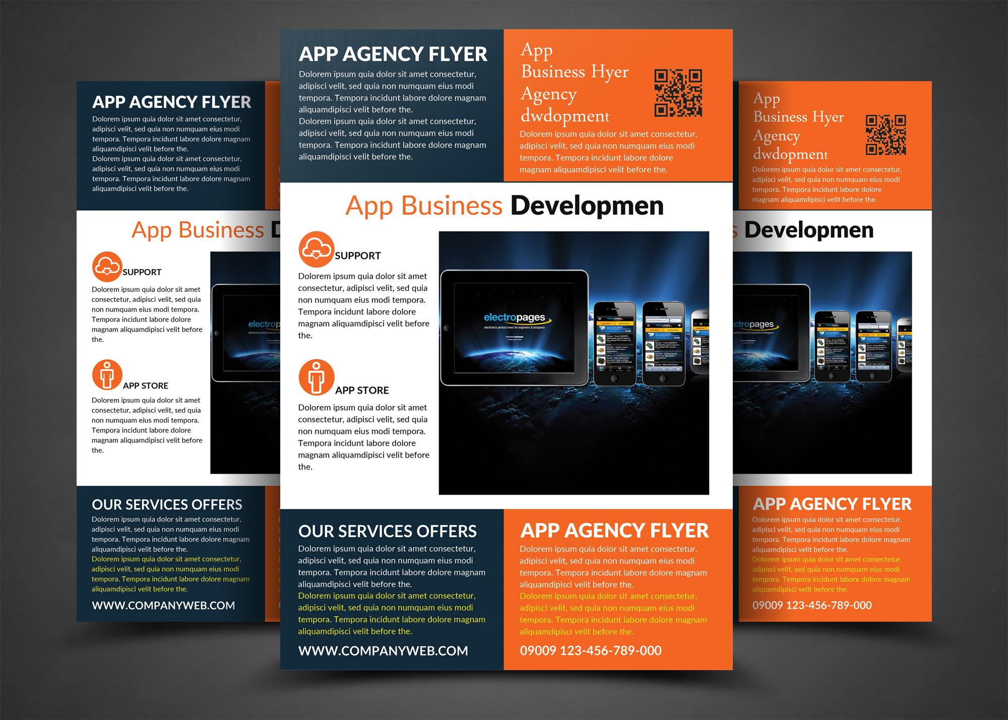 app flyer templates