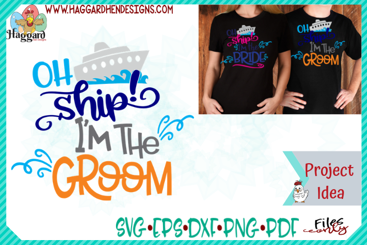 Oh Ship Bride and Groom Bundle example image 5