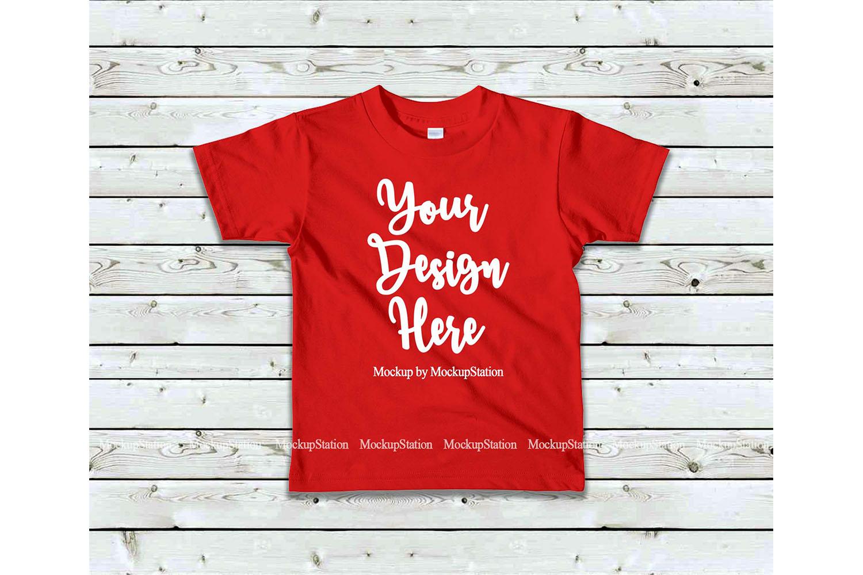 Kids Tshirt Mockup Bundle, Basic Toddler Shirt Mock Up Set example image 6