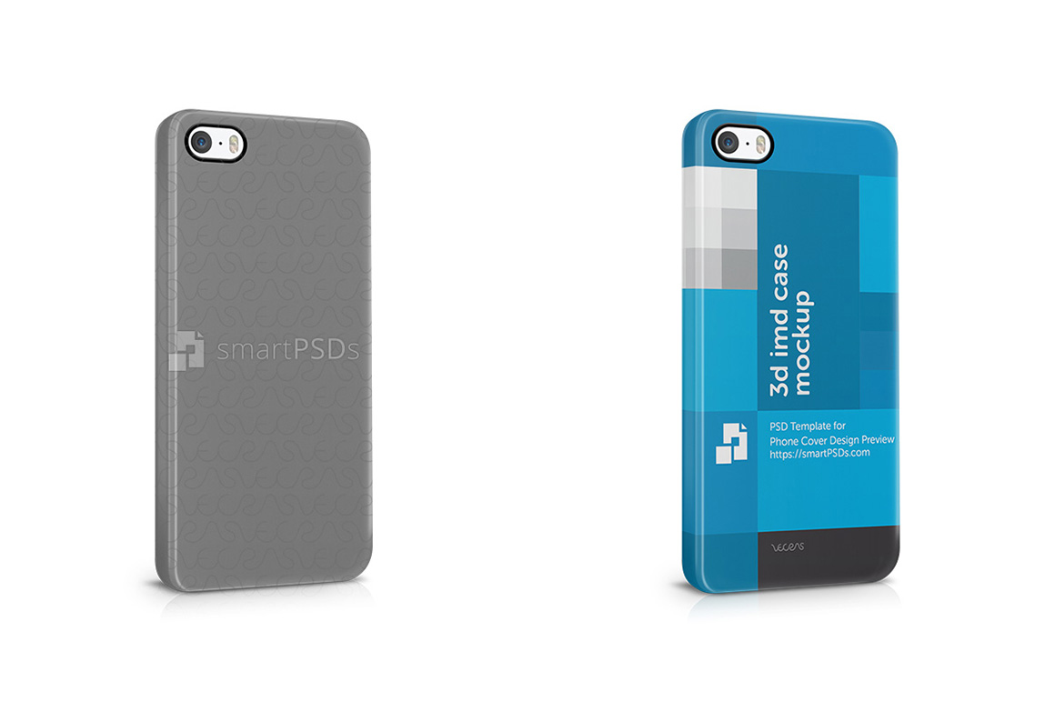 Apple iPhone 5-5s 3d IMD Mobile Case Design Mockup 2013 example image 1