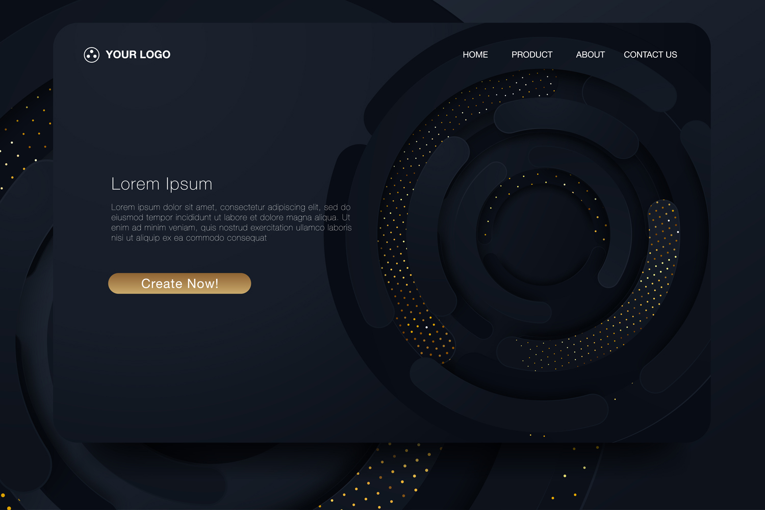 20 - Abstract background design. Landing page template example image 6