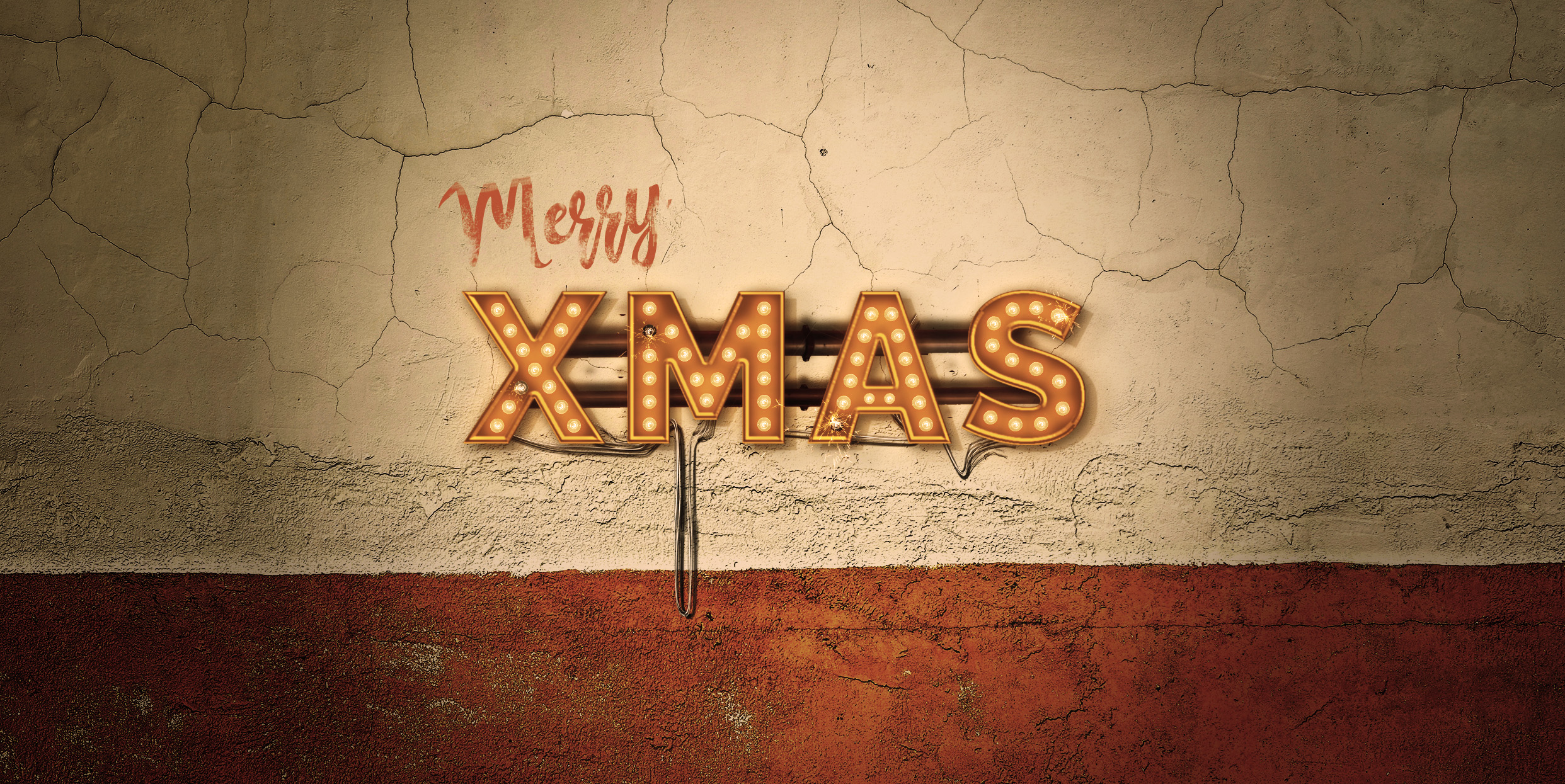 Lightbulb Merry Christmas Signs | 14-Image Bundle example image 7