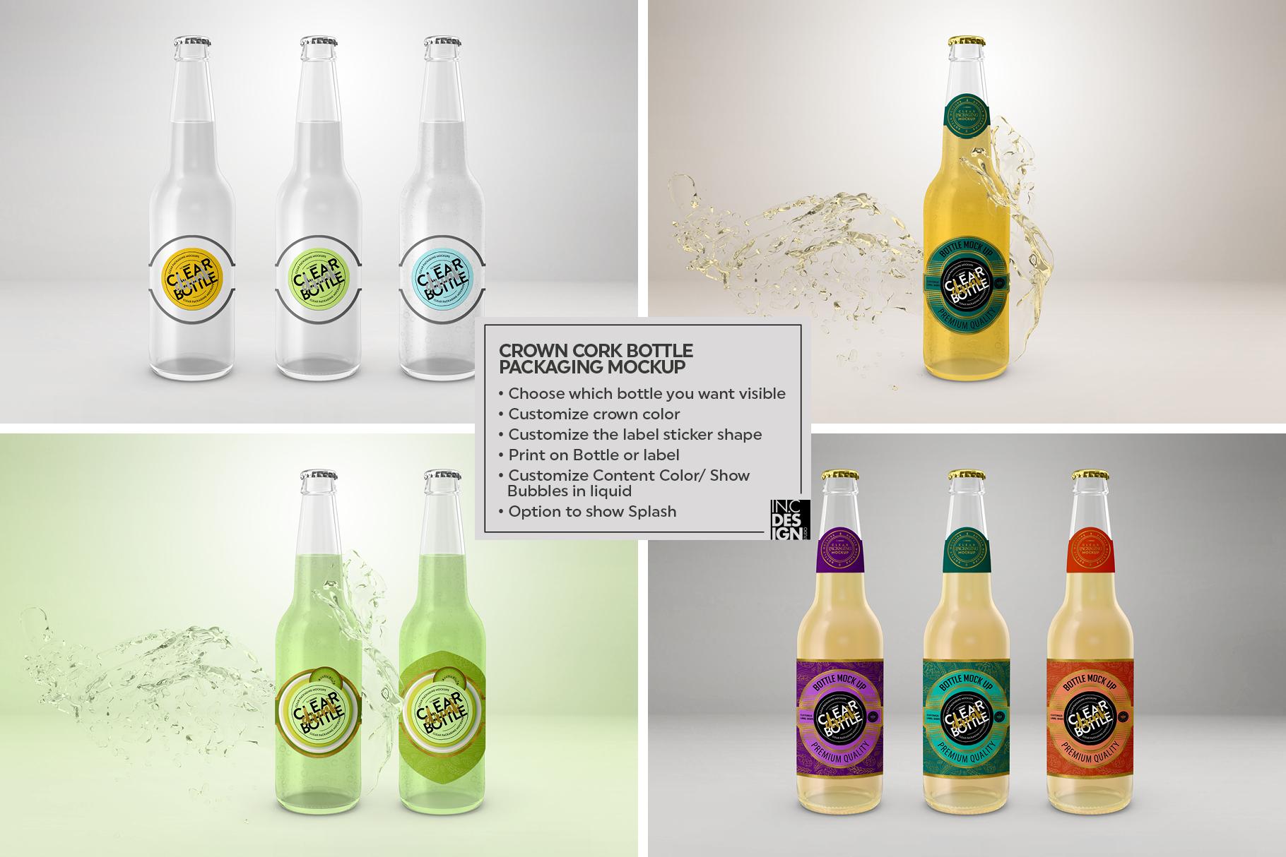 Crown Cork Bottle Mock Up example image 2