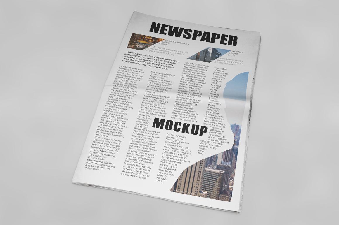 Newspaper Mockup example image 16