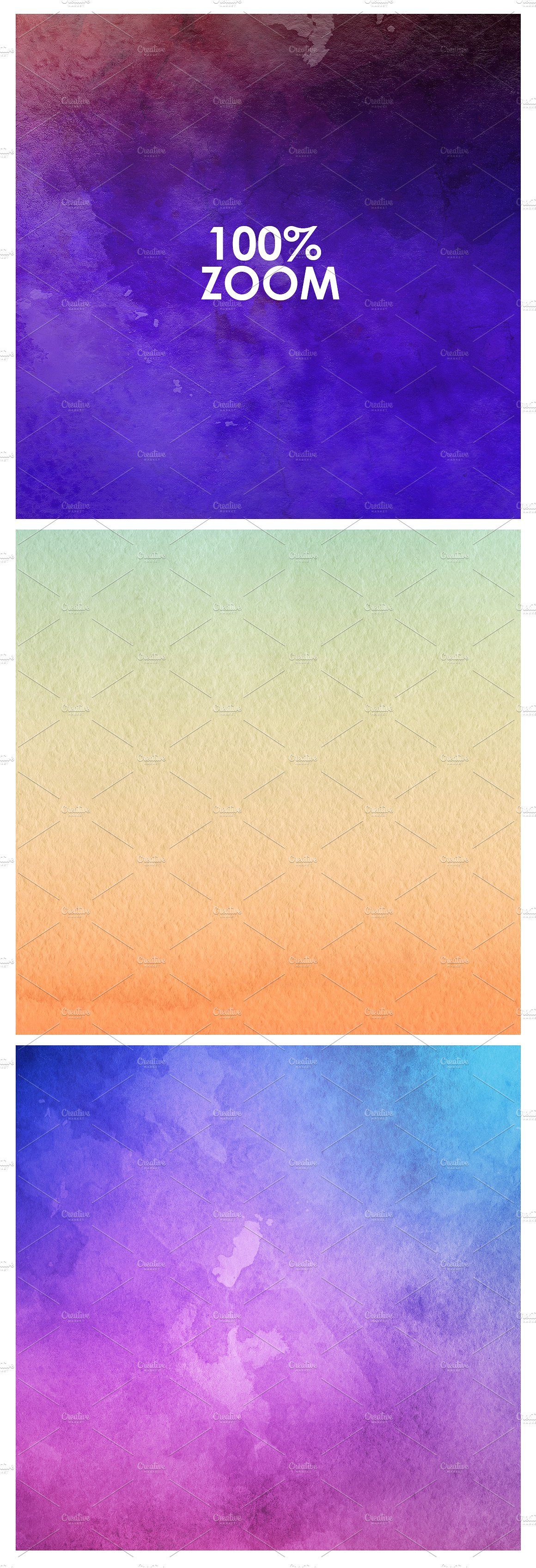 Only Watercolor Backgrounds Bundle example image 4