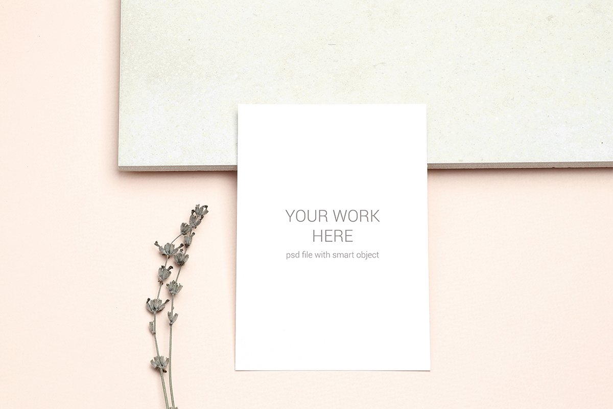 Invitation Card Mockups With Branches example image 3