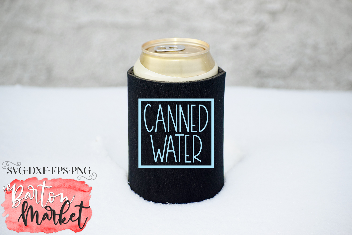 Canned Water SVG DXF EPS PNG example image 2