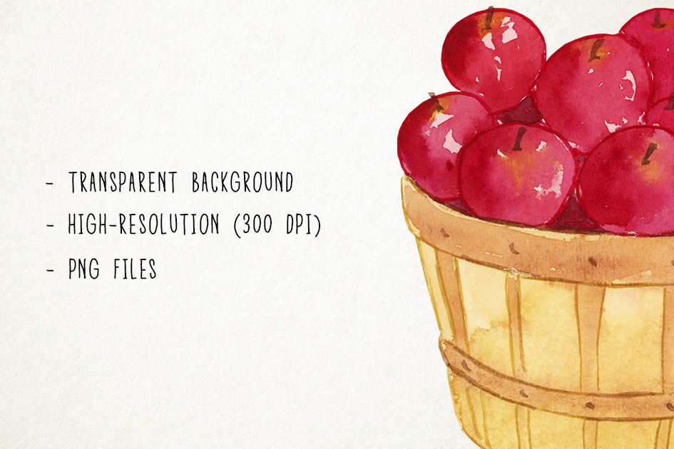 Watercolor Fall Clipart, Autumn Clipart, Harvest Clipart example image 3