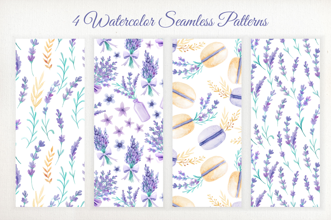 Watercolor Lavender Design Pack example image 6