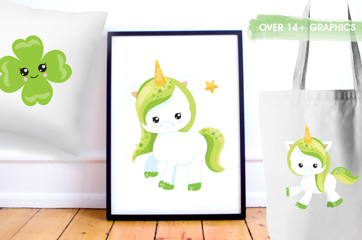 Unicorn Clover graphic and illustrations example image 2
