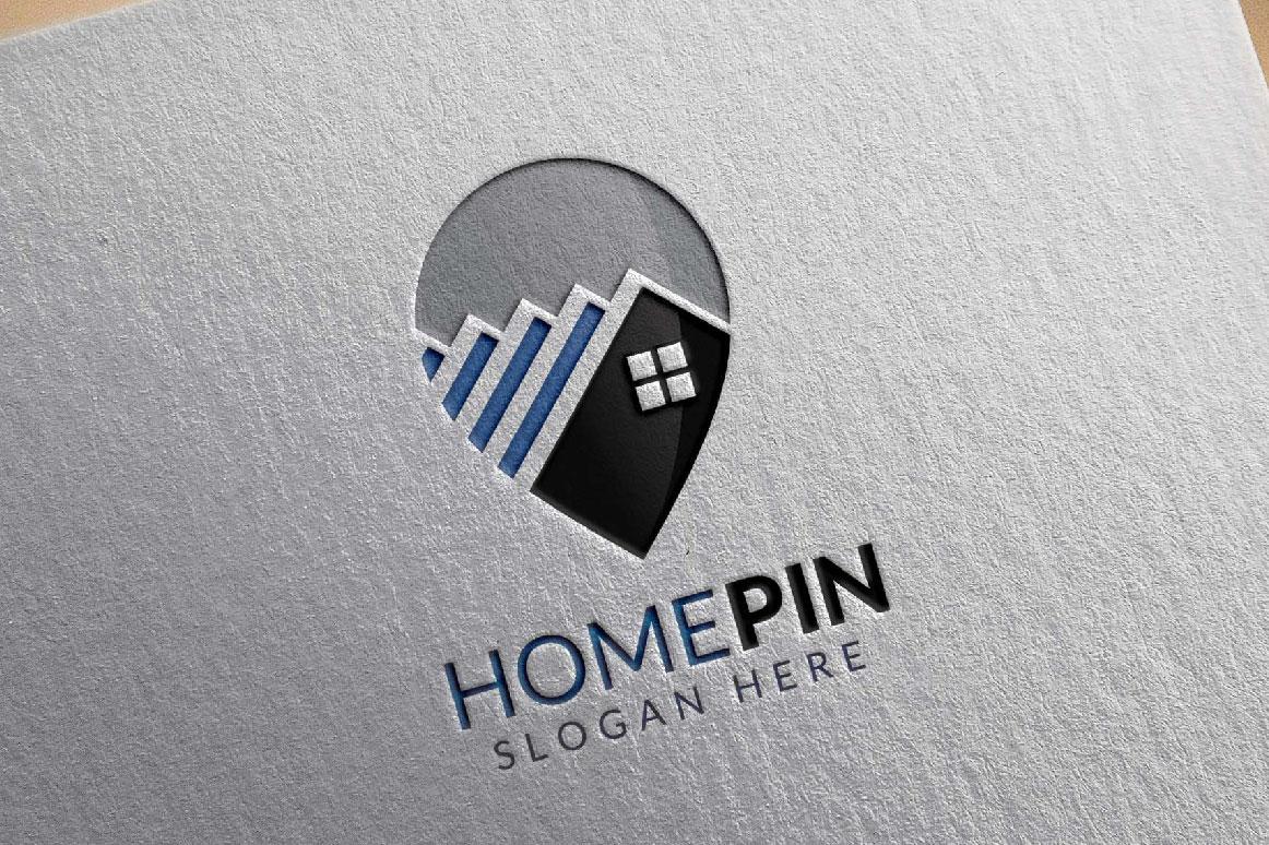 Home Pin Logo, Real estate logo example image 2