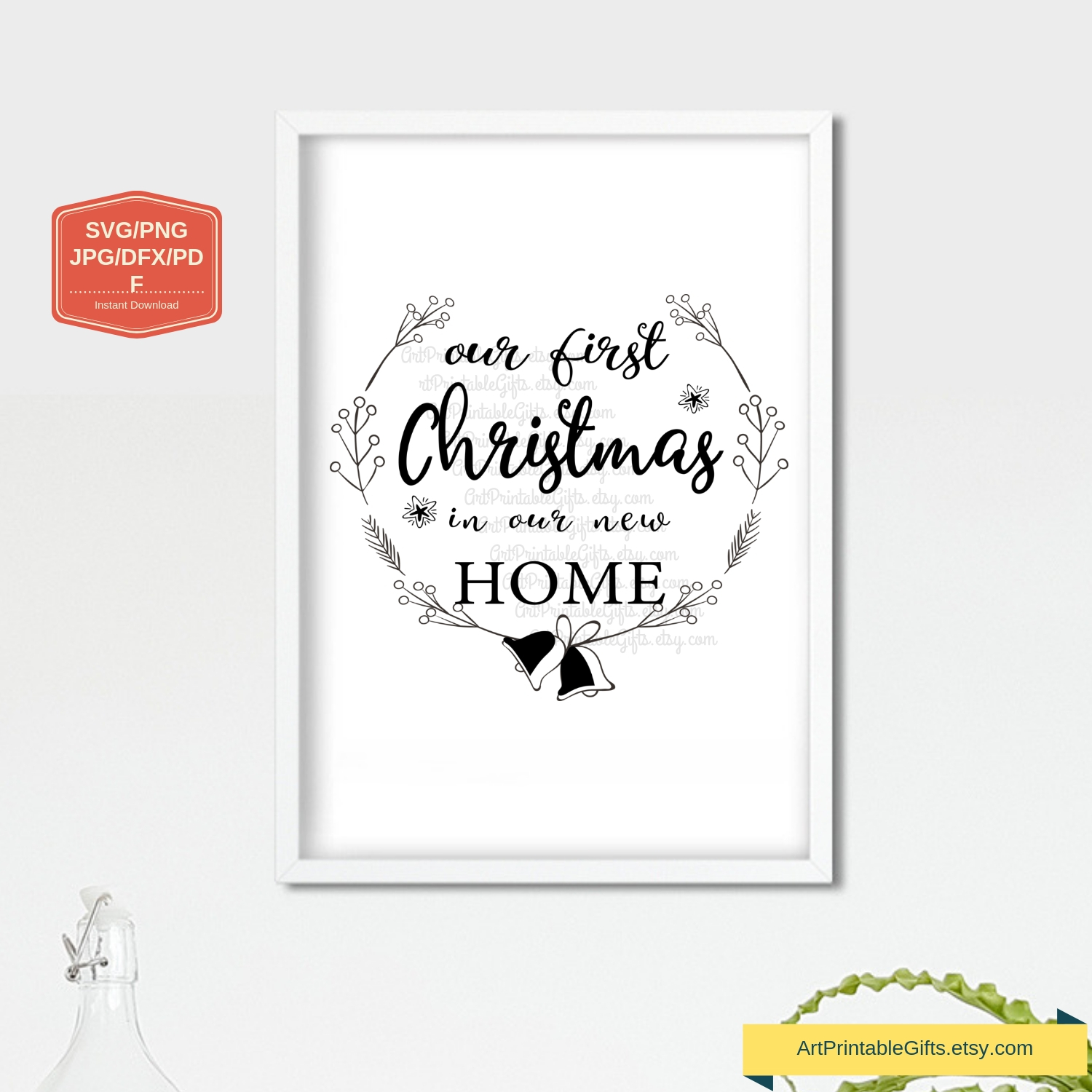First Christmas In Our New Home Svg.Our First Christmas In Our New Home Svg File Png Jpg Dxf
