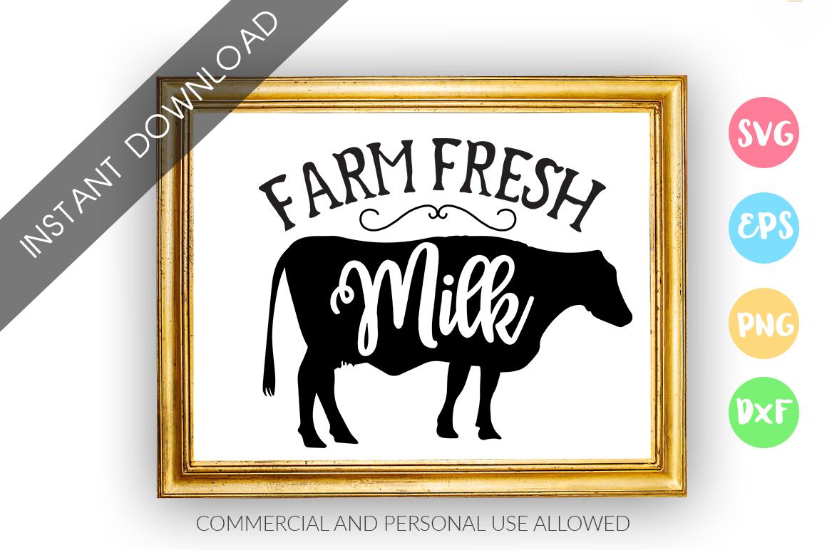 Farm Fresh Milk SVG Design example image 1