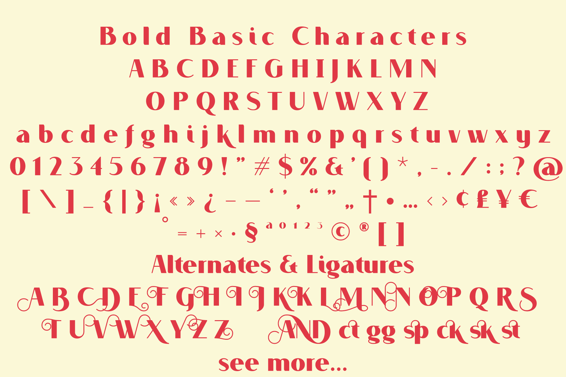 VOGUER Sans family example image 5