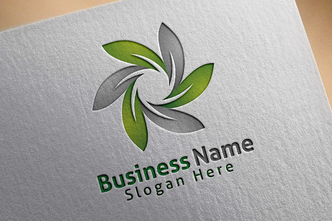 infinity Green leaf ecology logo template example image 4