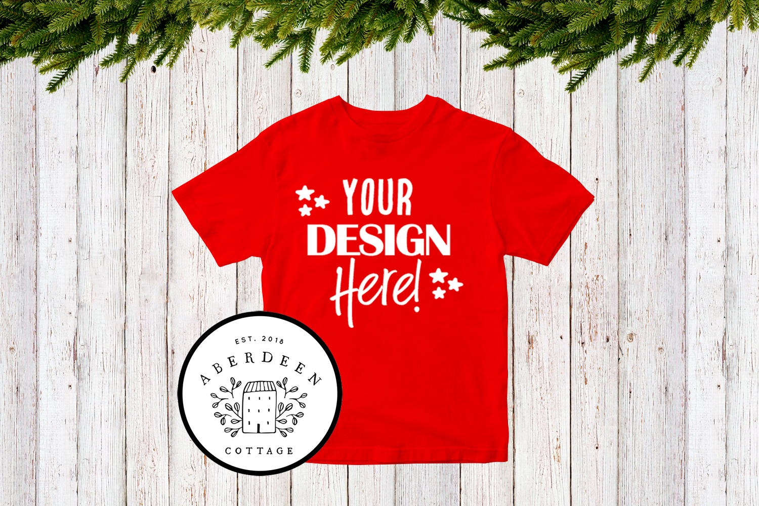 Children's Christmas T-Shirt Mock Up Mini Bundle example image 6