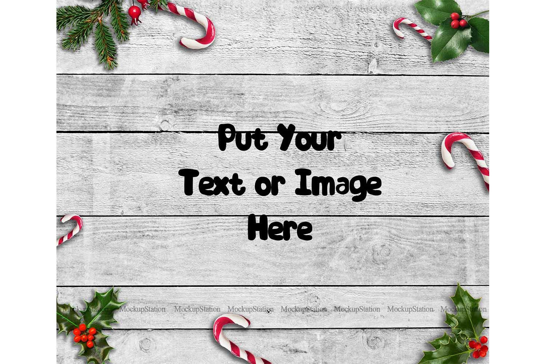 Christmas Background, Winter Wood Digital Backdrop Scene example image 1