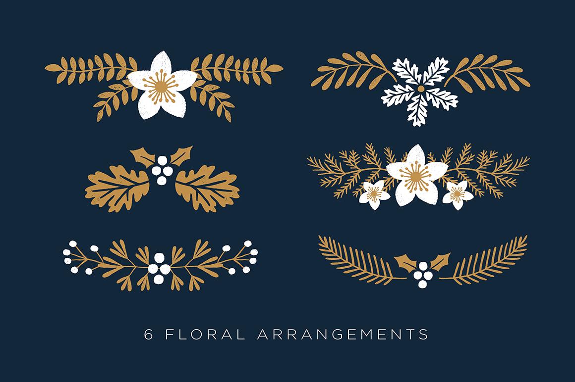 Elegant Christmas Graphic Set example image 3