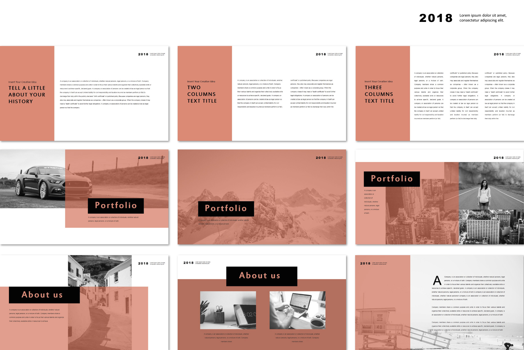 Conquer PowerPoint Templates example image 5
