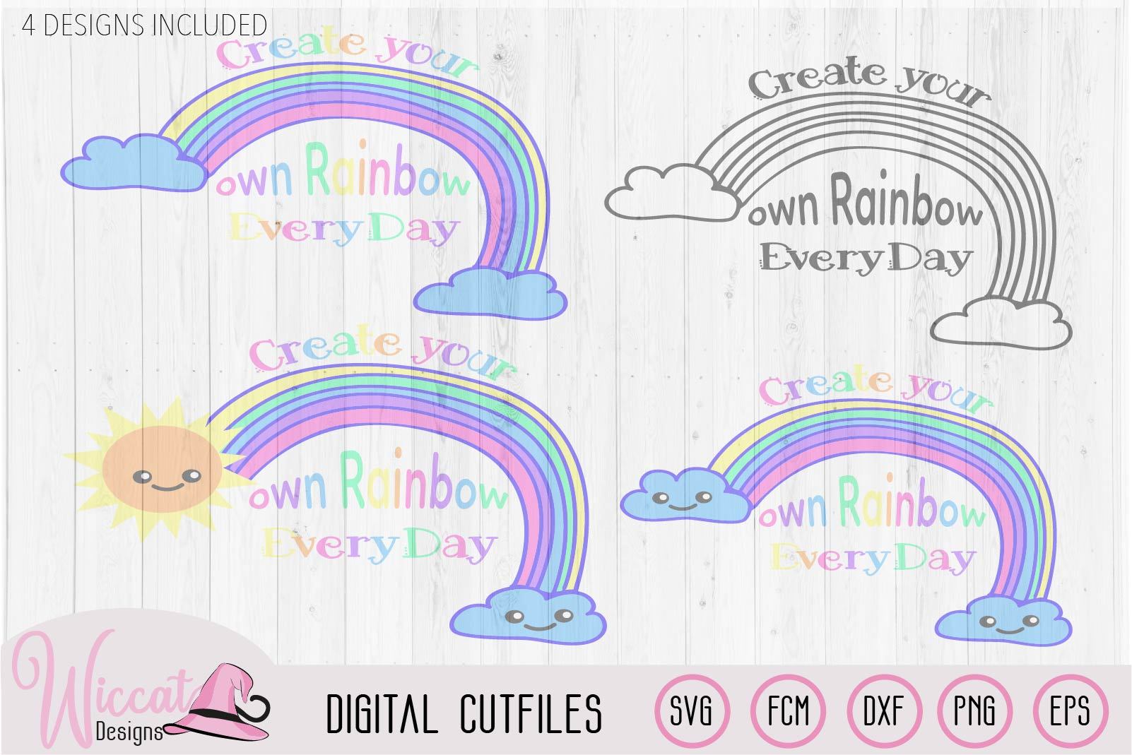 Make your own rainbow quote svg, kawaii rainbow, Kids design example image 5