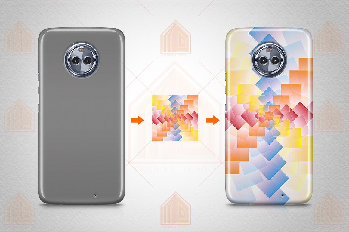MOTO X4 3D Case Design Mockup Back View example image 3