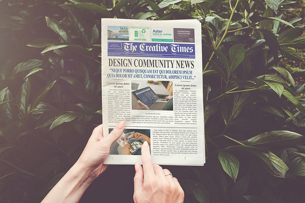 a4 Newspaper Mockups example image 5