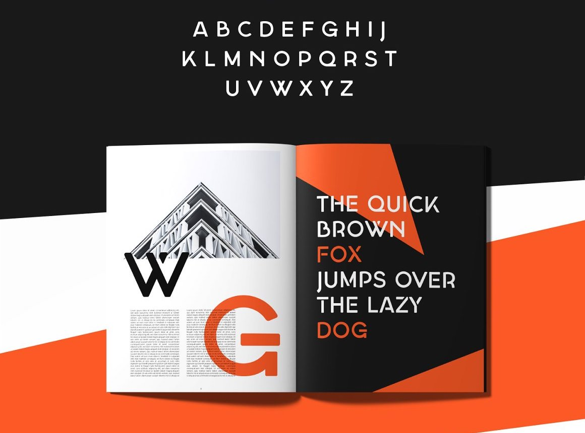 Georgina - A Stencil Hybrid font example image 4