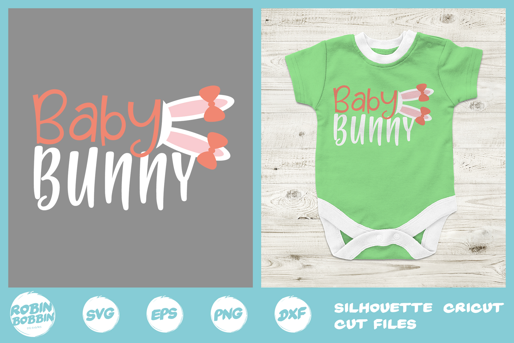 Easter svg, Baby Bunny svg, first easter svg, Baby Onesie example image 1