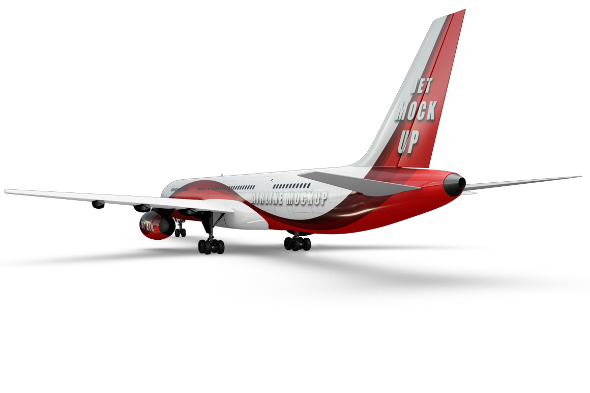 Jet Airplane Mockup example image 4