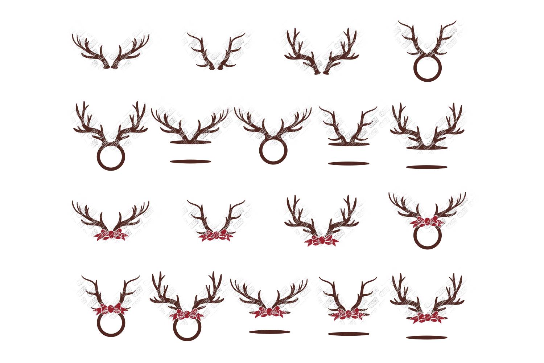 Reindeer SVG Bundle Antlers in SVG, DXF, PNG, EPS, JPEG example image 6