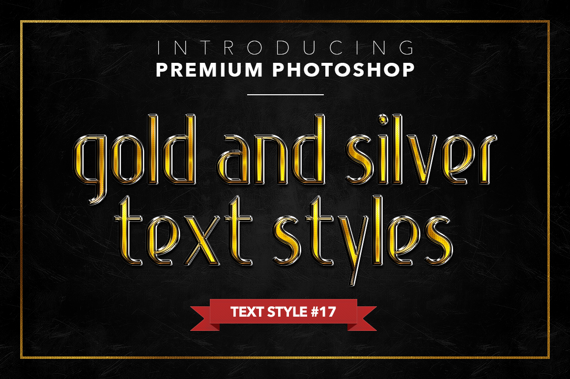 Gold & Silver #1 - 20 Text Styles example image 8