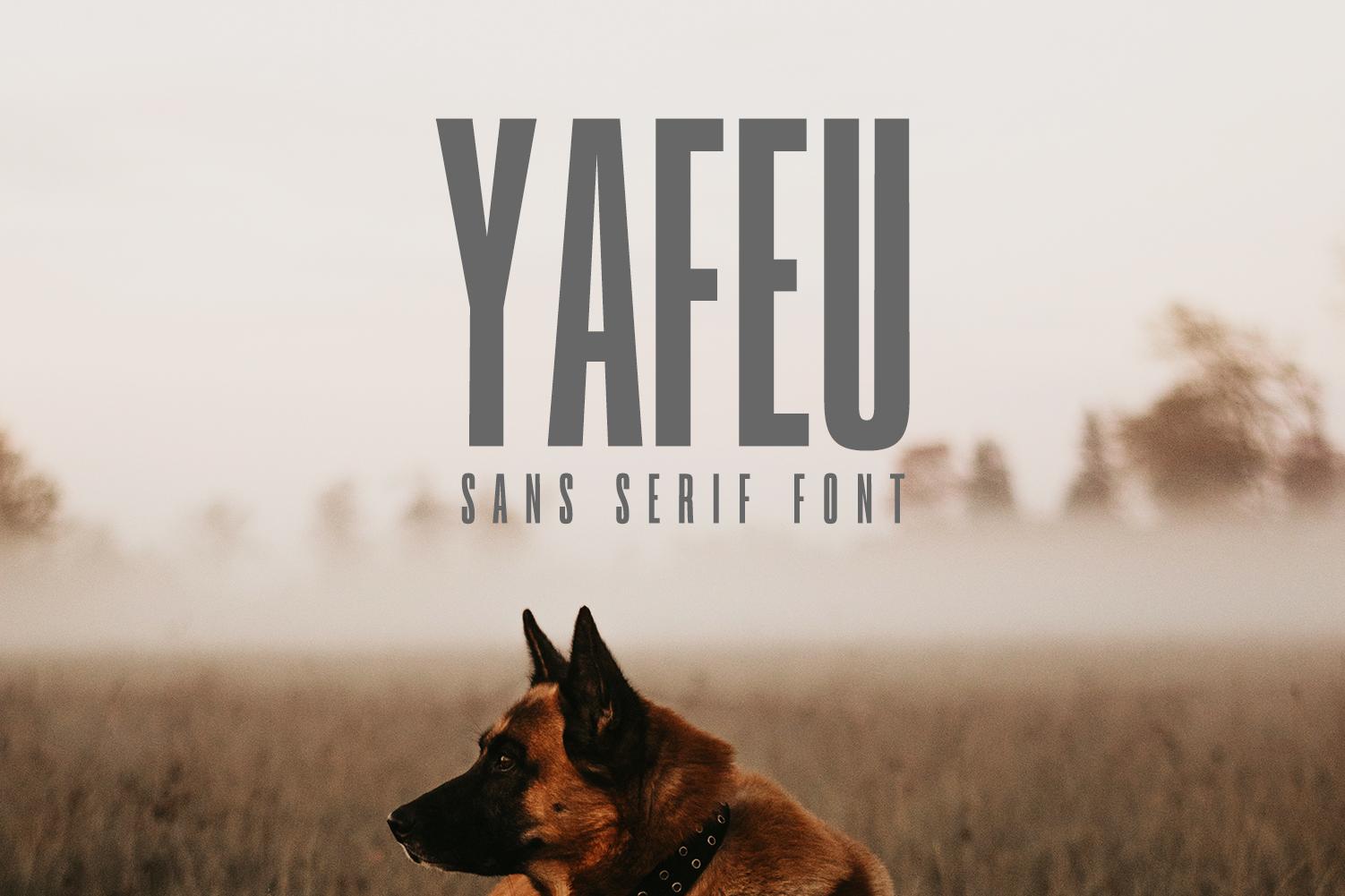 Yafeu Sans Serif Font Family example image 1